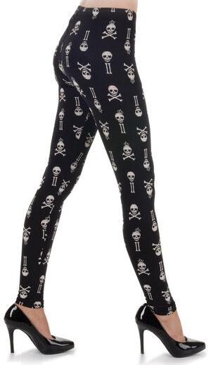 Black and White Skull Leggings