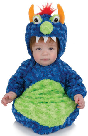 Blue Monster Bunting Baby Costume