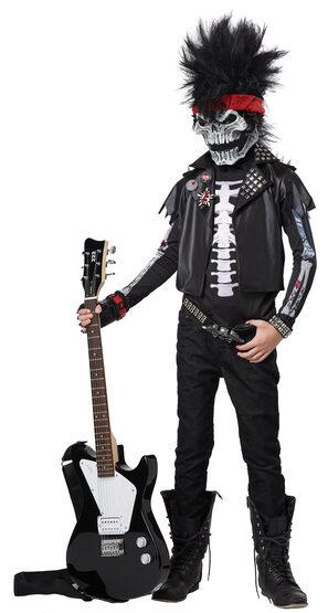 Dead Man Rockin Zombie Rockstar Kids Costume