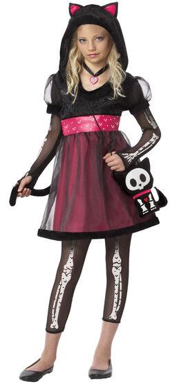 Gothic Cat Kids Costume