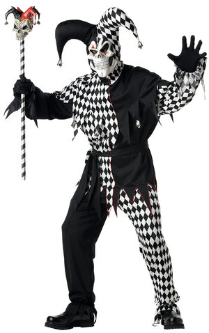 Evil Jester Scary Adult Costume