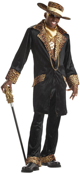 Mens Supa Mac Daddy Pimp Adult Costume