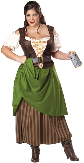Tavern Maiden Beer Girl Plus Size Costume