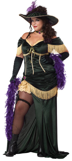 Ladies Saloon Madame Plus Size Costume