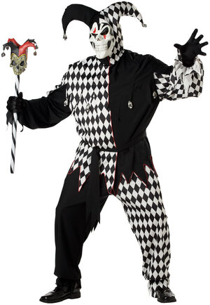 Scary Clown Jester Plus Size Costume