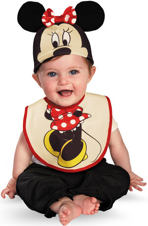 Minnie Mouse Bib and Hat Baby Costume