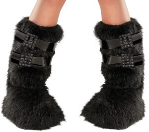 Gothic Buckled Up Boot Covers Shoe Covers