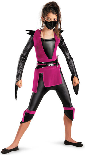 Girls Dark Ninja Kids Costume