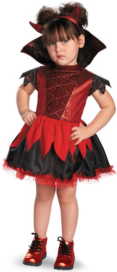 Dainty Devilish Punk Kids Costume