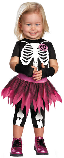 Punkie Bones Skeleton Kids Costume