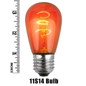 S14 Amber Triple Dipped Transparent Replacement Bulbs