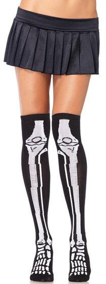 Leg Bone Skeleton Knee Socks Stocking