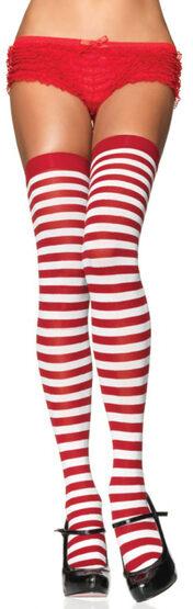 Red Nylon Striped Stockings Stocking