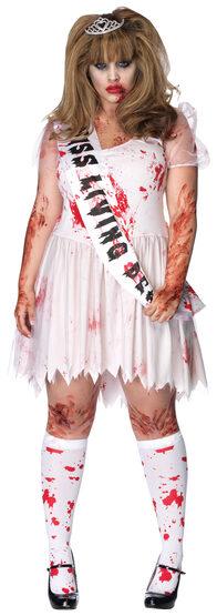 Putrid Zombie Prom Queen Plus Size Costume