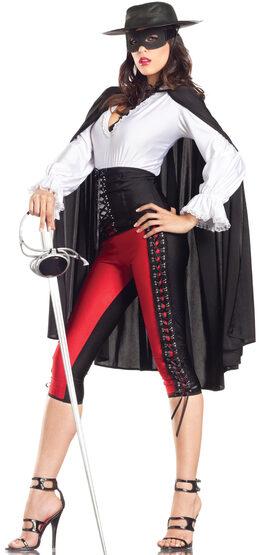 Sexy Mysterious Zorro Bandita Costume