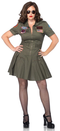Top Gun Movie Flight Dress Plus Size Costume
