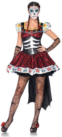 Sexy Dia de los Muertos Darling Skeleton Costume