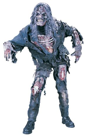 3D Wounded Zombie Adult Costume