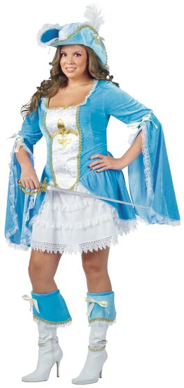 Madam Muskateer Pirate Plus Size Costume