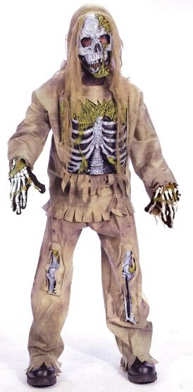 Rotting Skeleton Zombie Kids Costume