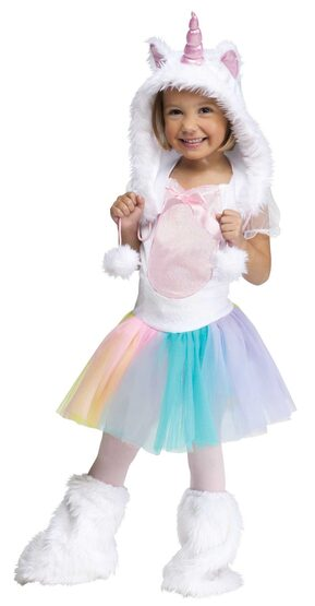 Girls Pink Unicorn Toddler Kids Costume