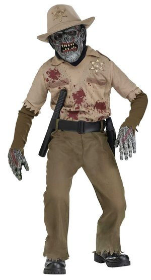 Boys Zombie Sheriff Kids Costume