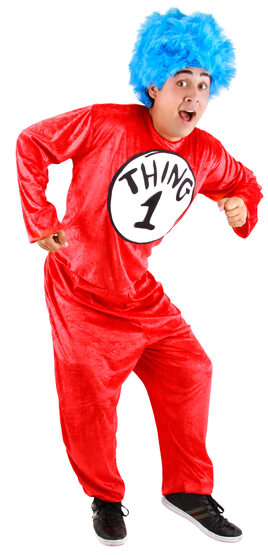 Dr Seuss Thing 1 and 2 Adult Costume