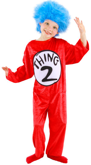 Dr Seuss Thing 1 and 2 Kids Costume