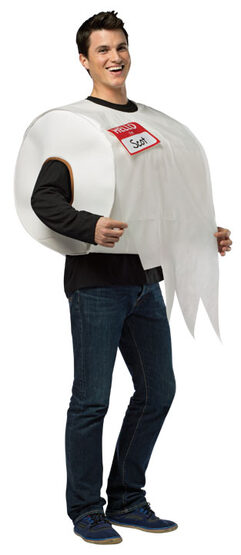 Toilet Paper Roll Funny Adult Costume
