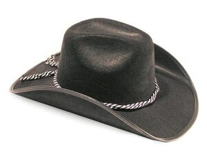Mens Black Cowboy Hat