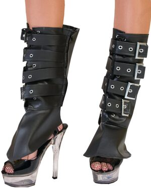 Black Bootcovers with Buckles