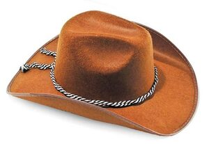 Mens Brown Cowboy Hat
