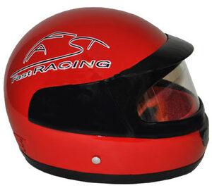 Red Racecar Driver Helmet