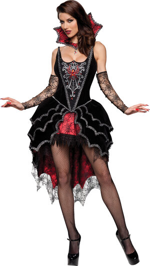 Sexy Spider Webbed Mistress Costume