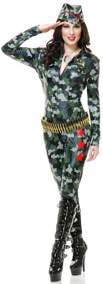 Sexy Camoflauge Cutie Military Costume