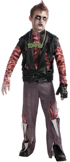 Boys Zombie Punk Rocker Kids Costume