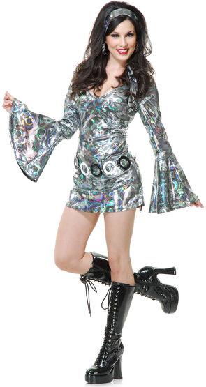 Sexy Womens Disco Queen Costume