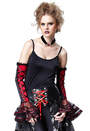 Red and Black Vampiress Sleeves