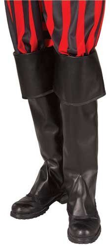 Tall Black Pirate Boot Tops