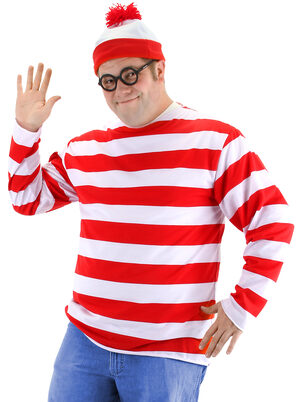 Mens Where's Waldo Funny Adult Costume