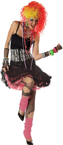 1980s Party Girl Adult Costume