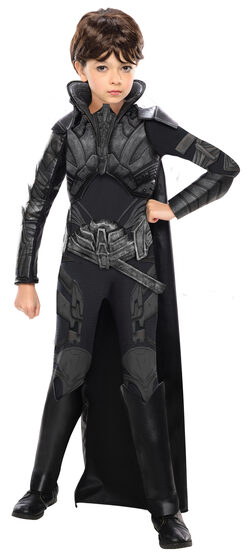 Girls Faora Villain Kids Costume