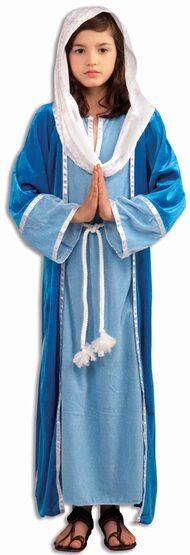 Girls Mary Religious Kids Costume