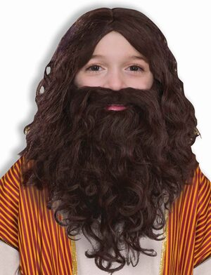 Childrens Biblical Religious Beard and Wig