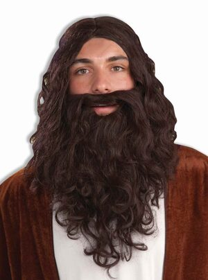 Adult Biblical Religious Beard and Wig