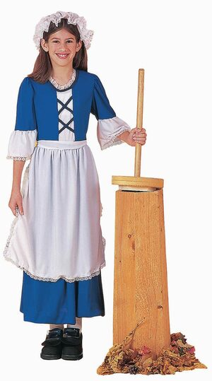 Historical Colonial Girl Kids Costume