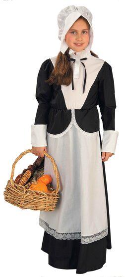 Historical Pilgrim Girl Kids Costume