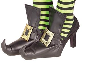 Gold Wicked Witch Shoe Covers