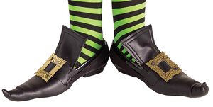 Girls Gold Wicked Witch Shoe Covers Shoe Covers