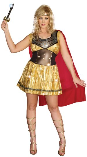 Gorgeous Golden Gladiator Plus Size Costume